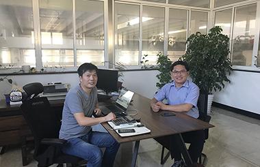 韩国erae公司全球采购总经理来我公司考察洽谈
